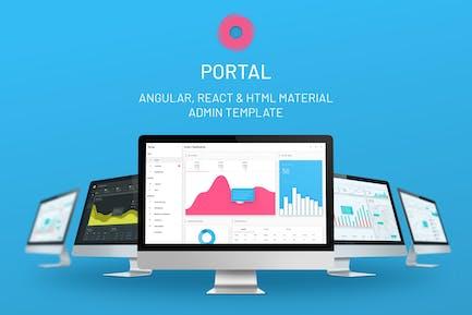 Portal - Angular / React / HTML Admin Template