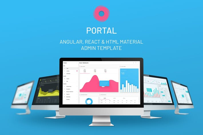 Thumbnail for Portal - Angular/Reaccionar/HTML Admin Plantilla
