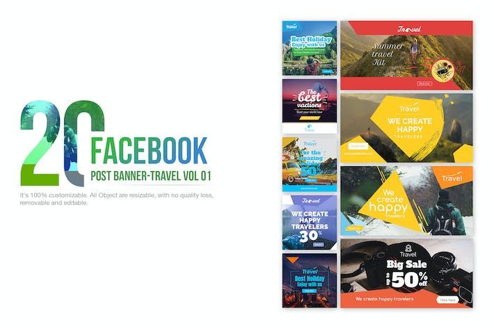 Thumbnail for 20 Facebook Post Banner - Travel01