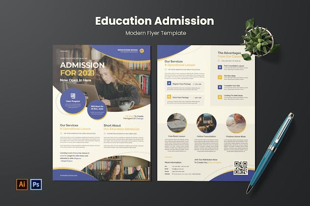 Education Admission Flyer