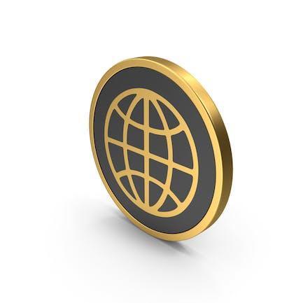 Gold Web Icon