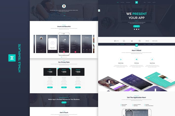 Cover Image For Metro App - Application HTML5 Template