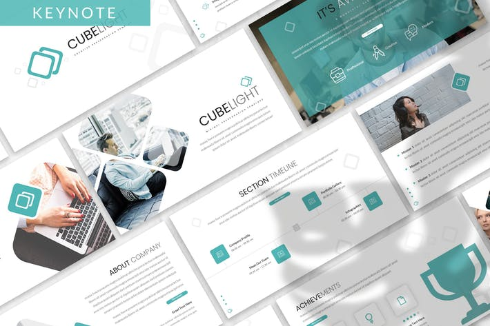 Thumbnail for Cubelight - Business Keynote Template