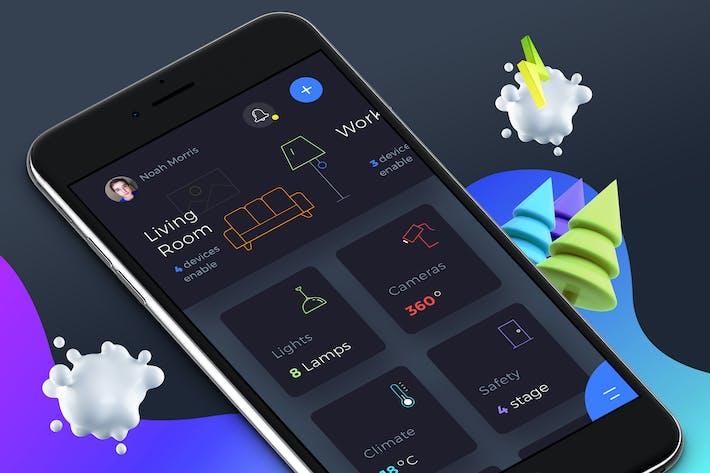 Thumbnail for Smart Home Dashboard 4 Mobile Ui