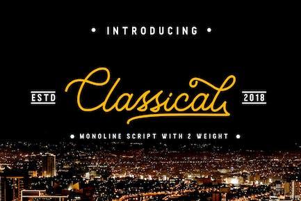 Clásica - Monoline con clase