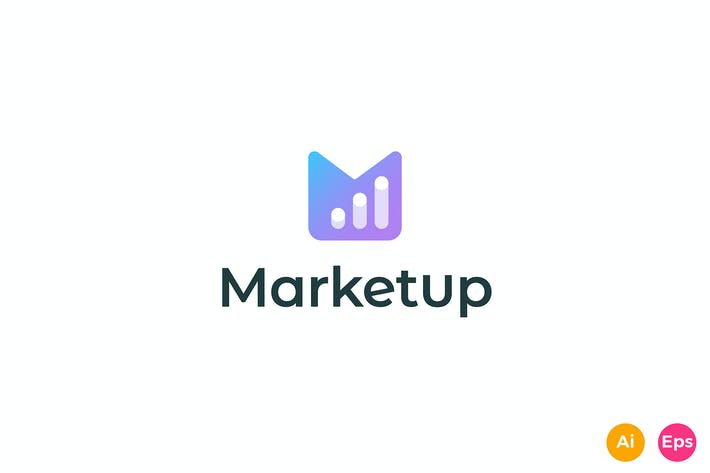Thumbnail for Market Up - Letter M, Invest, Stock Logo Template