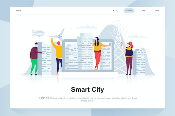 Thumbnail for Smart City Flat Concept
