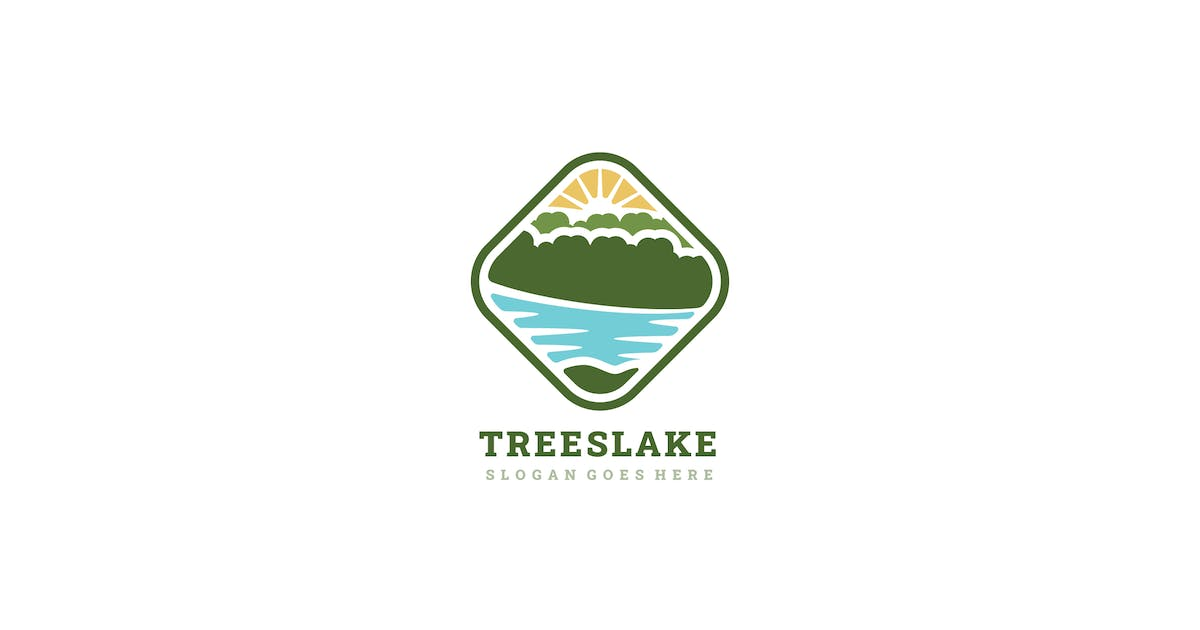 Download Lake and Trees Logo by 3ab2ou