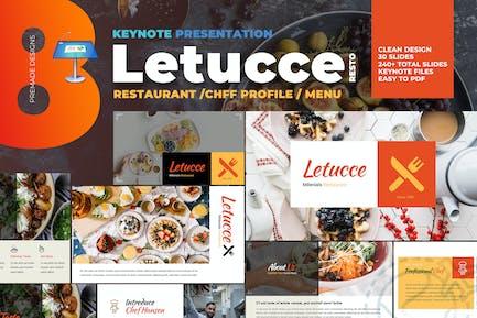 Ресторан Letucce - Шаблон Keynote