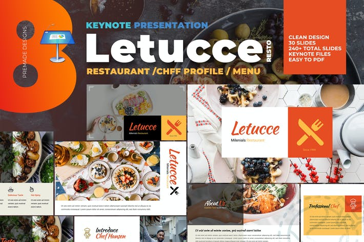 Thumbnail for Letucce Restaurant - Keynote Template