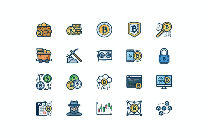 Thumbnail for 20 Bitcoin icons