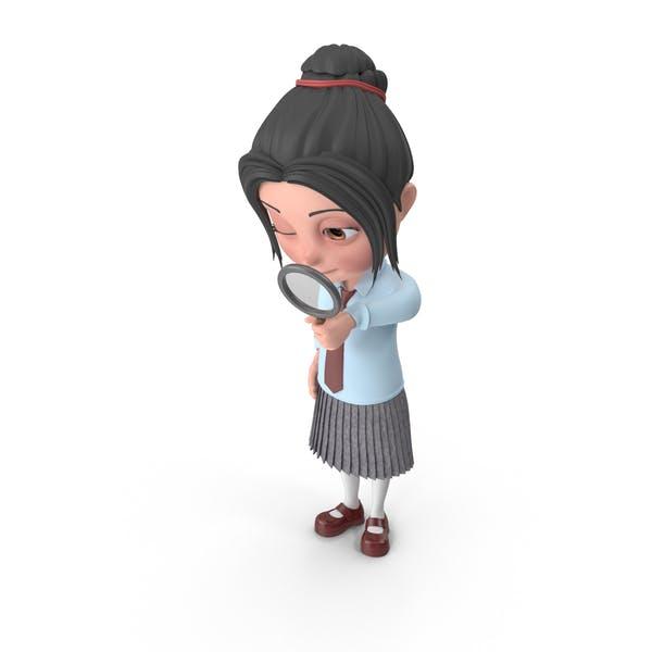 Cartoon Girl Emma Searching