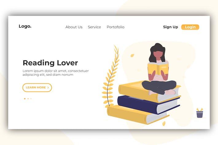 Reader Lover- Banner & Landing Page