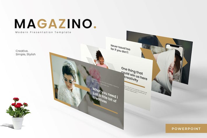 Thumbnail for Magazino - Powerpoint Template