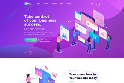 Saku - Agency And Business HTML Template