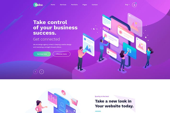 Thumbnail for Saku - Agency And Business HTML Template