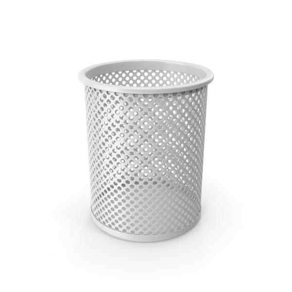 Белая чашка для карандашей