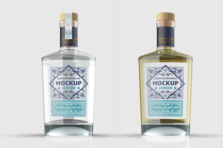 Thumbnail for Clear Glass Gin Bottle Mockup