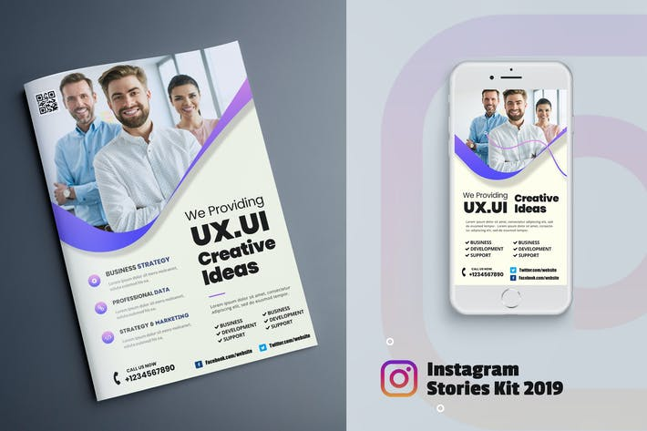 Thumbnail for Business Marketing Flyer & Instagram Stories
