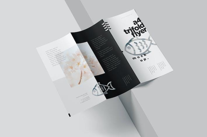 A4 Tri Fold Brochure Mockups