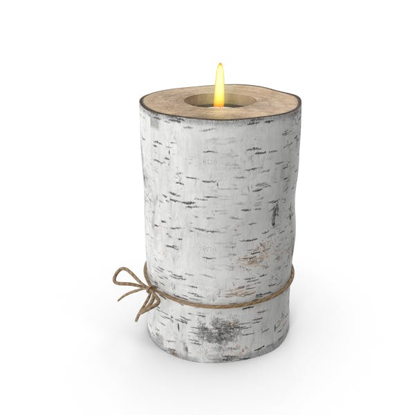 Birch Tree Candle Holder