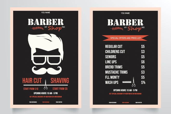 Thumbnail for Classic Barber Shop Flyer Template