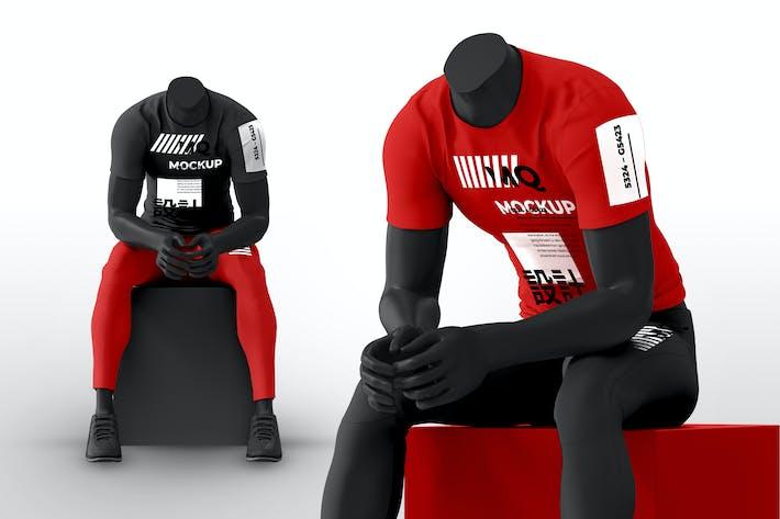 Thumbnail for Männliche Schaufensterpuppe mit T-Shirt-Mockups