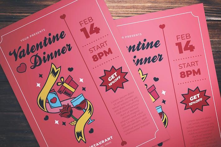 Thumbnail for Valentine Dinner Flyer