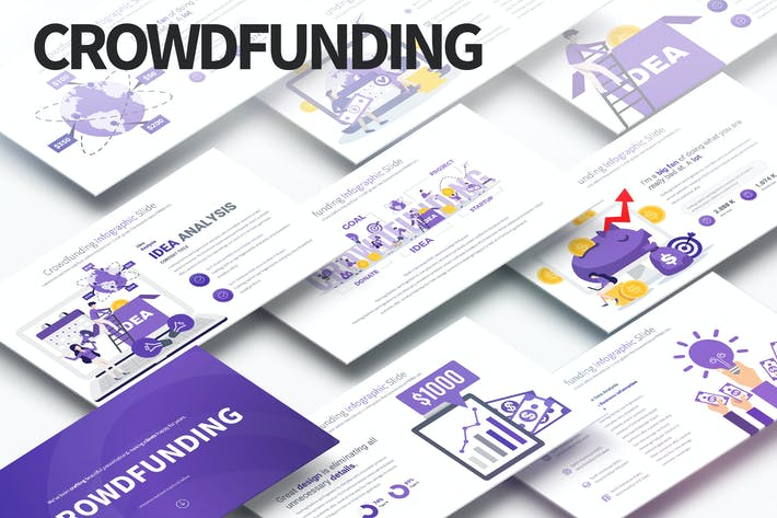 Thumbnail for Crowdfunding - PowerPoint Infographics Slides