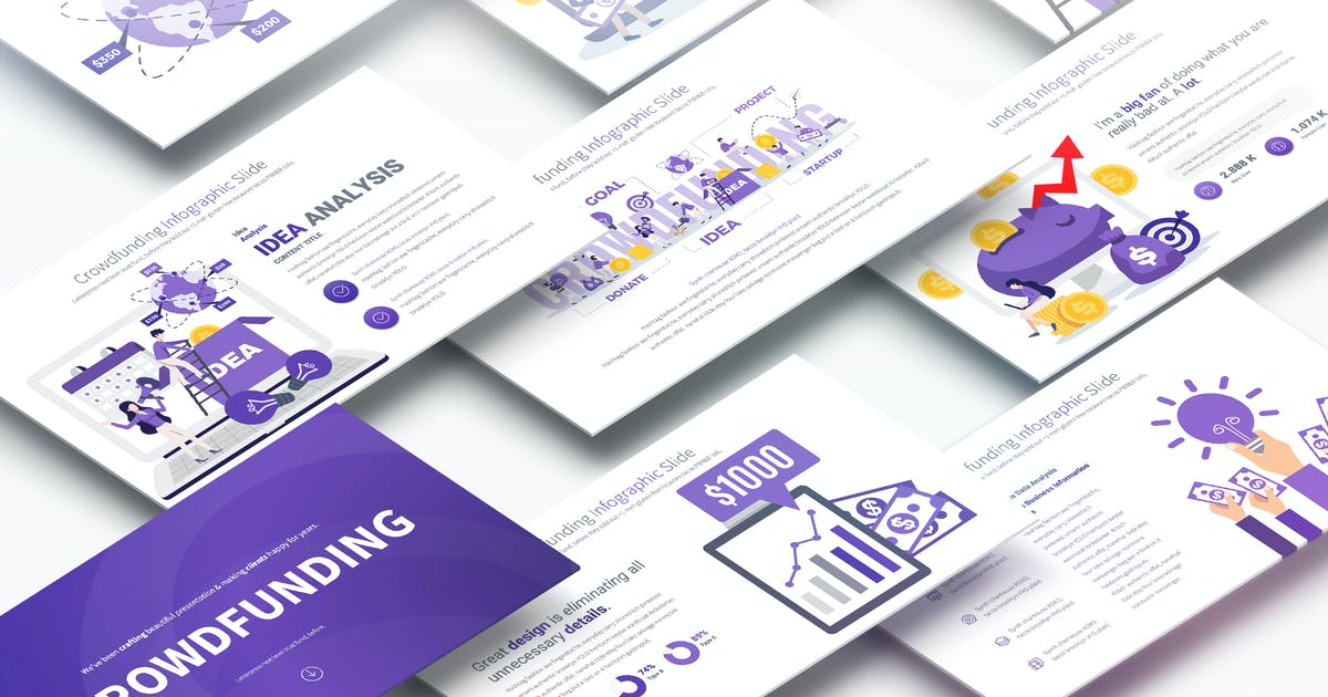 Download Crowdfunding - PowerPoint Infographics Slides by pulsecolor