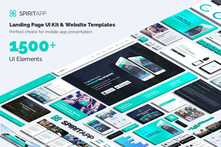 Thumbnail for SpiritApp Landing Page UI Kit (Light Style)