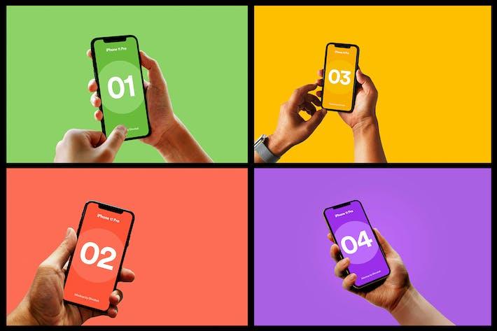 Thumbnail for iPhone 11 Pro Mockup - Vol 05
