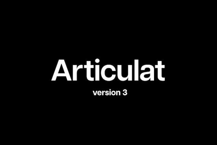 Thumbnail for Articulat CF | modernist Sin serifa famille de polices