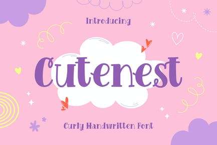 Cutenest – Curly Handwritten Font