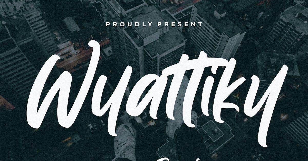 Download Wyattiky Stylish Brush by RahardiCreative