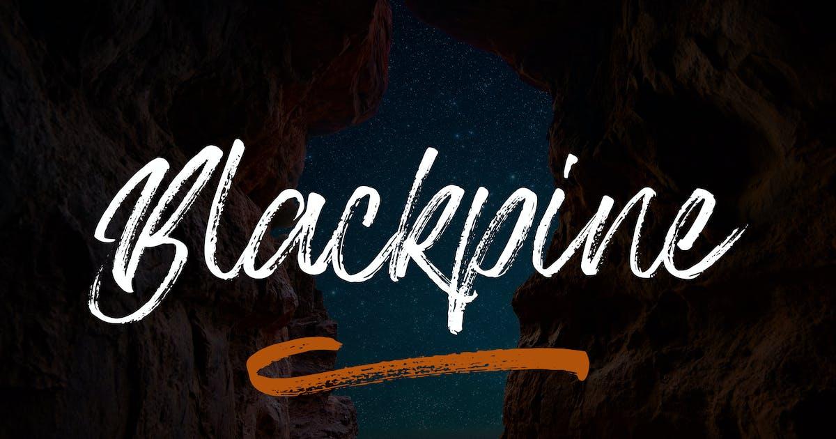 Download Blackpine - Handbrush Typeface YR by Rometheme