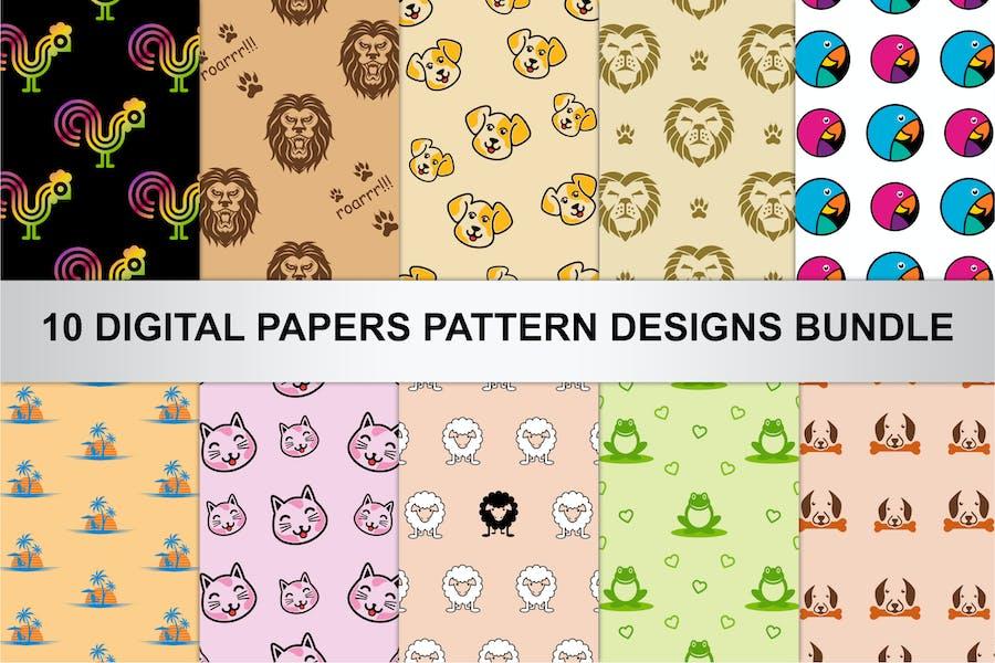 Digital Papers Pattern Designs Bundle