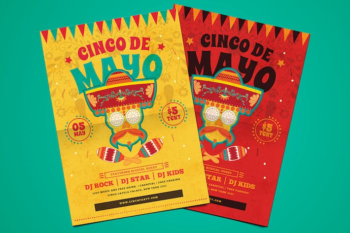 Thumbnail for Classic Cinco de Mayo Flyer