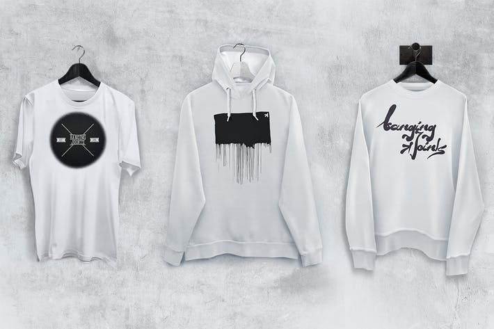 Thumbnail for T-Shirt Sweatshirt Hoodie Mockup Set