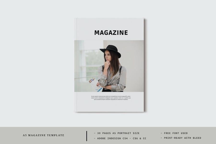A5 Magazine Template