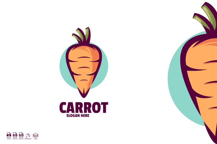Thumbnail for carrot logo template