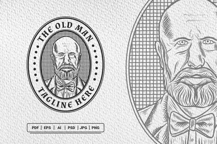 Thumbnail for Alter Mann Vintage Handgezeichnetes Logo