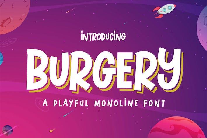 Thumbnail for Burgery - A Playful Font