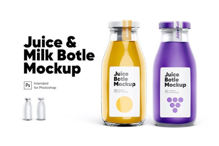 Thumbnail for Saft- und Milchflaschen Mockup Set