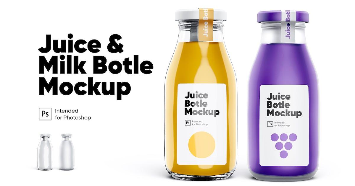 Download Juice & Milk Bottles Mockup Set by Kavoon