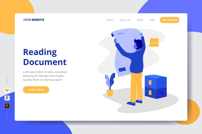Reading Document - Landing Page