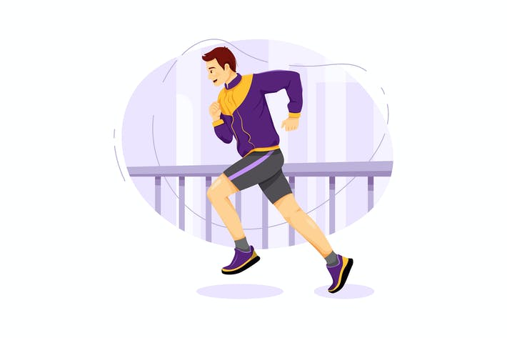 Thumbnail for Street runner vector illustration concept