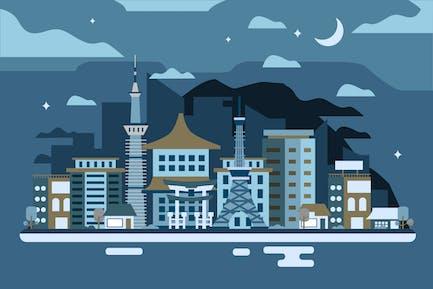 Tokyo - Background Illustration