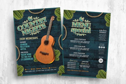 Country Western Flyer Template