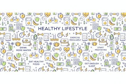 Ilustración conceptual Estilo de vida saludable